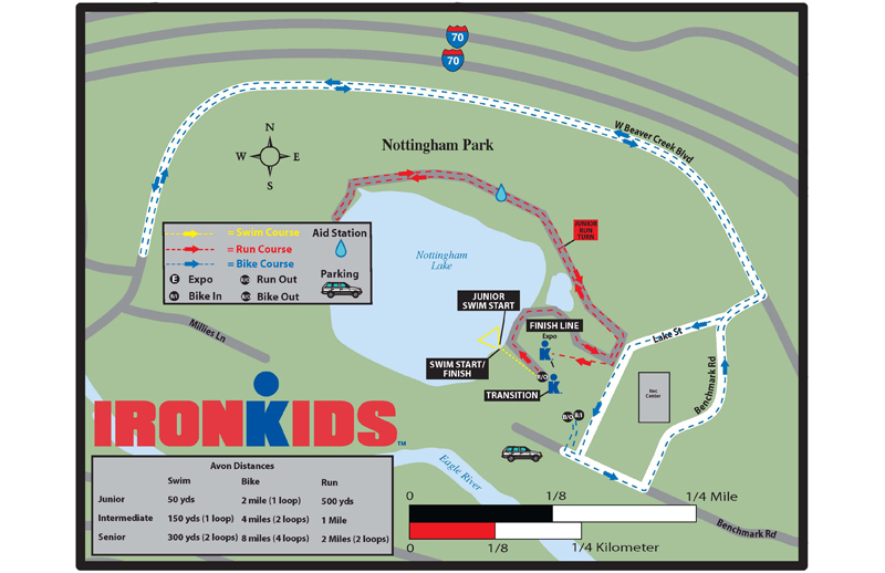 IRONKIDS TRIATHLON MAP 2009