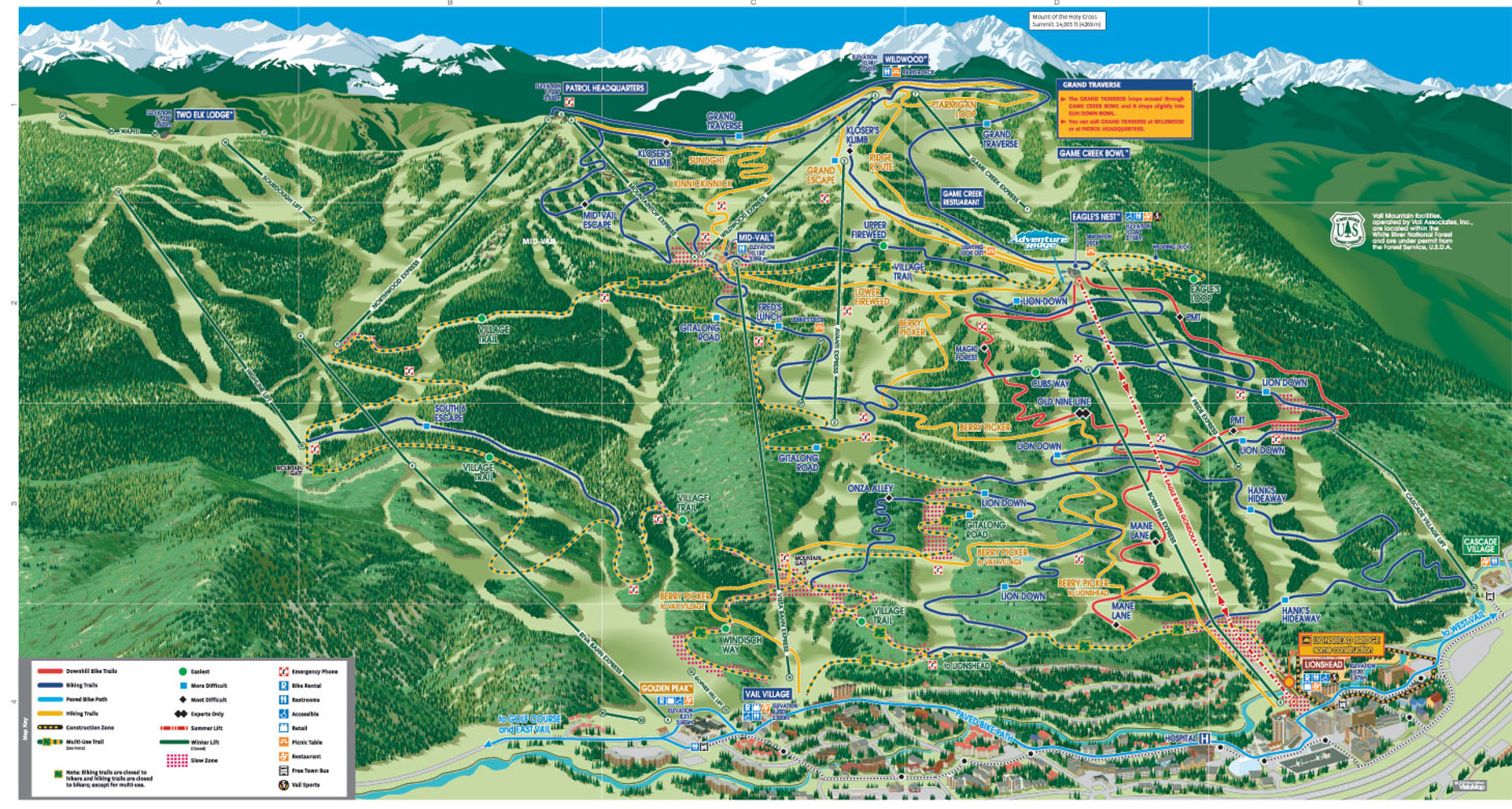 Vail 2009 Summer Trail Map